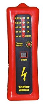 Kerbl Zaunprüfer ohne Erdspiess mit LED Anzeige inkl. 9 Volt Blockbatterie 44669