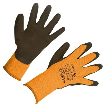Kerbl 6 Paar Winterhandschuh PowerGrab Thermo orange Größe 9 297383