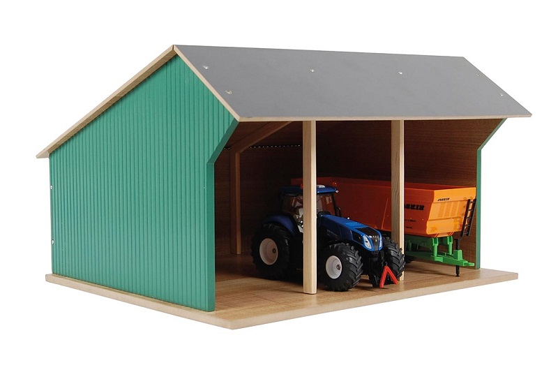 610492 Van Manen Kinder Spielzeug Traktor Schuppen Garage Hof Holz M1:87